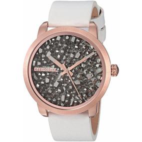 Relógio Diesel Feminino Flare Rocks Couro Branco Dz5551