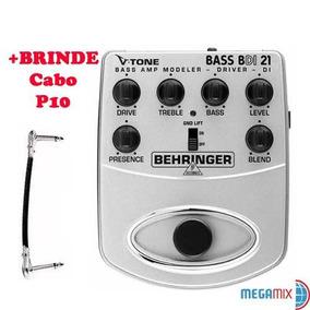 Pedal Behringer V-tone Bdi 21 P/ Baixo/contra Baixo +brinde