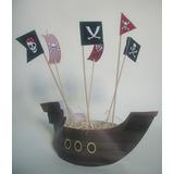 Cotillon Barco Pirata Con Pinches Para Gomitas