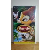 Bambi Disney - Fita Vhs - Raro Novo Lacrado Original.