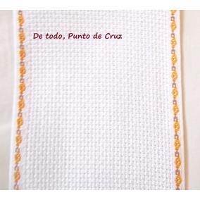 Cenefa Española Ribete De Flores 5cmx5m Bordado Punto D Cruz