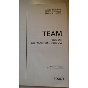 Team English For Technical Schools | Libro Antiguo De Inglés