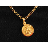 Pingente Medalha Santo Antonio Em Ouro 18k Joia Igreja 94dd0be069