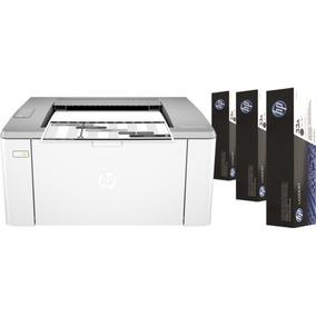 Impresora Láser Hp M106w Wifi + 3 Tóner Originales