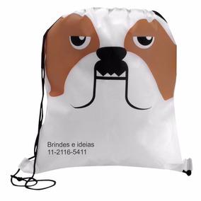 Mochila Saco Infantil Personalizada Em Silk - Bull Dog 50und