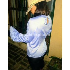 Blusa Camisa Camisola Vestir Larga Mujer Lisa Manga Volados