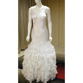 Vestido Noiva, Sereia Saia Plissada, Bordado Cristais Tn-521