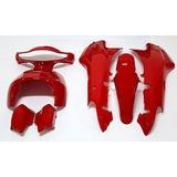Kit Cachas Plasticos Guerrero Trip 110 Rojo Con Calcos
