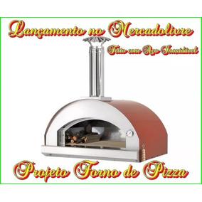 Projeto Forno De Pizza De Aço Inoxidável À Lenha