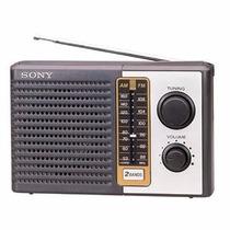 Radio Portatil Analogio Sony Am/fm Icf-f10 Novo Na Caixa
