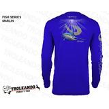 Camisa Para Pesca Marca Mojo Estampado Marlin Proteccion Uv