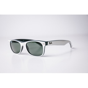 Linda Ray Ban Rb2132 Wayfarer Branco Lente Verde G15 - Óculos no ... bda308e329