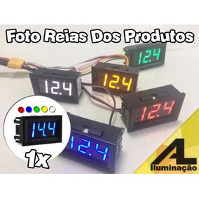 Voltímetro Digital Medidor Bateria Som Automotivo 3 Fios