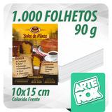 1000 Panfleto Folheto Flyer 10x15 Cm Frente Color Couchê 90g