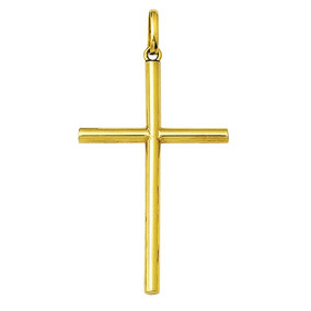 Pingente Crucifixo De Ouro 18k Pequeno Cruz Maciço