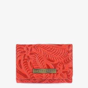 Billetera Amphora Orlando Para Mujer - Rojo