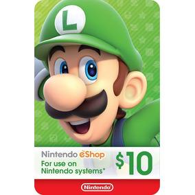 Cartão Nintendo Usa 3ds Wii-u Switch Eshop Card $10 Dólares