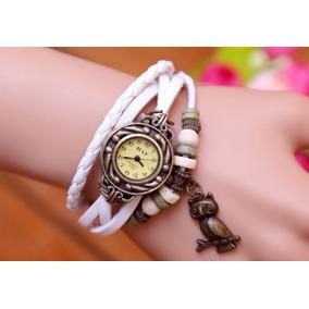 Relógio De Pulso Vintage Feminino Pingente Coruja