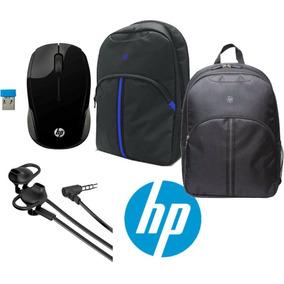 Kit Backpack Mochila Hp 15.6 Mouse Inalambrico Audifonos 3.5