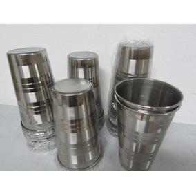 12 Copo Aço Inox 500 Ml - 13 Cm Com Borda Original