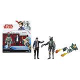 Pack Star Wars Force Link Han Solo & Boba Fett 10 Cm Hasbro