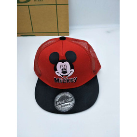 Boné Aba Reta Mickey Mouse Disney Infantil Touca Gorro Verão