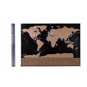 Mapa Para Raspar Mapamundi Scratch Planiferio 82x59 Banderas