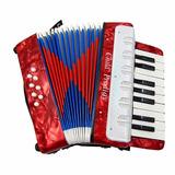 Acordeon Sanfona Gaita 8 Baixos Instrumento Musical Infantil