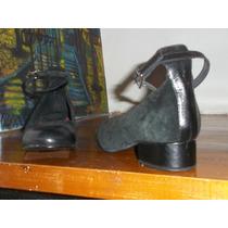 Zapatos Guillermina De La Ostia Gamuza Cuero 36 A Estrenar!