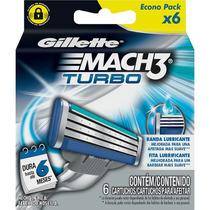 Carga Gillette Mach 3 Turbo Com 6 Unidades - Gillette