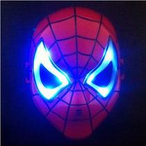 Máscara Homem Aranha Luz Led Fantasia Infantil Vingadores