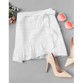 Minifalda Blanca Moda Femenina Talla M