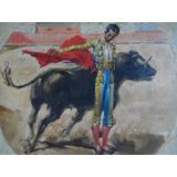 Manolete, Pintura Taurina Antigua, Al Oleo, Tauromaquia