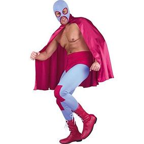 Disfraz Adulto Luchador Mexicano Traje De Tamaño 38