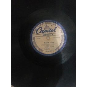 Disco De Vinil 78 Rpm Buddy Cole - Peanut Vendor/mona Lisa