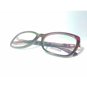 Óculos De Grau Feminino Vereda Wine + Brinde - B2124