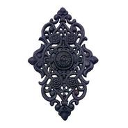 Florão Grande Ornamento Em Ferro Fundido Decoração 57x38cm