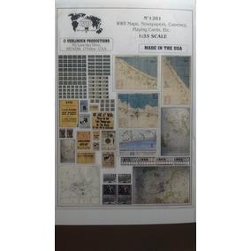 1/35 Mapas-diarios-moneda-cartas 2ª Guerra Mundial Diorama