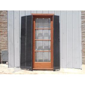 Antigua Puerta Ventana Balcón De Cedro 95x220cm Chapasusadas