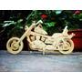 Moto Harley Davidson En 3mm 35 De Largo 3d Para Armar Mdf
