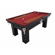 Mesa Sinuca Bilhar Snooker Klopf Residencia Preta Frete Grát