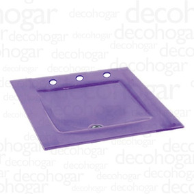 Mesada Bacha Vidrio Violeta 3 Ag Sin Soporte Kln 515x405mm