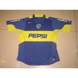 Boca Juniors Nike Titular 2004 Sphere Dry Tela De Juego