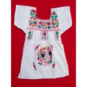 Vestido Mexicano, Bordado A Mano, Resistente, Cómodo, 3 Años