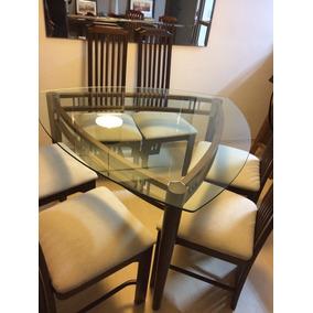 Mesa De Jantar Triangular 6 Lugares Com Cadeiras Mad. Macica