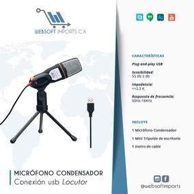 Micrófono Condensador Usb Locutor Youtuber Skype Gamer