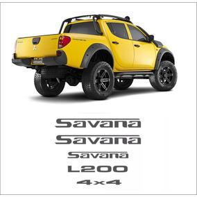 Acessórios Kit Adesivos L200 Savana Laterais Traseiros