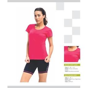 Remera Deportiva Mujer Running Fitness Pilates Gym