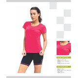 Remera Deportiva Mujer Running Fitness Pilates Gym