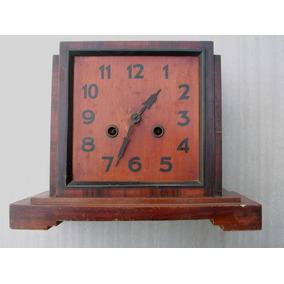 Antigua Caja De Madera Reloj Kienzle De Mesa Para Restaurar